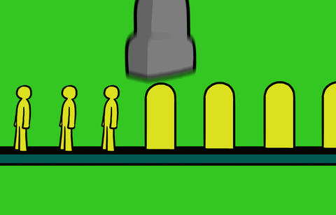 People production line Animation