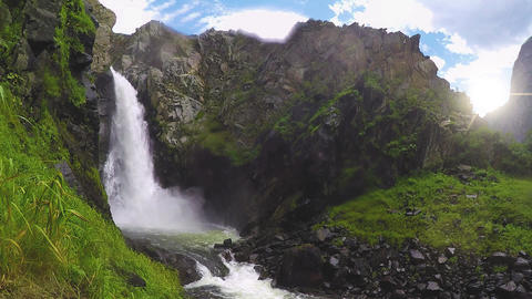 Kurkure waterfall. Altai Mountains 画像