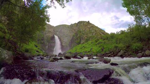 Kurkure waterfall. Altai Mountains Bild