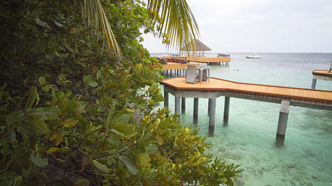 Romantic Dining on a Pier in the Maldives Footage