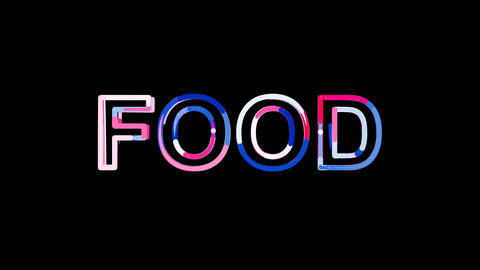 Letters are collected in text FOOD, then scattered into... Stock Video Footage