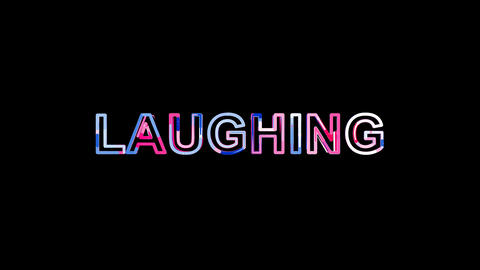 Letters are collected in text LAUGHING, then scattered into strips. Bright Animation