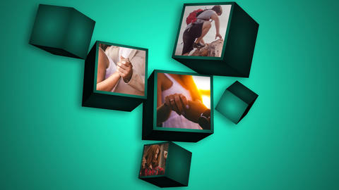 Cubic folder After Effects Template
