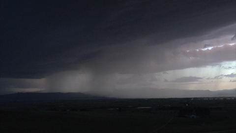 Lightning storm over country field Footage