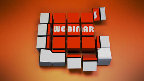 Webinar cube Animation