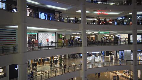 Shops inside Suria KLCC. Major Shopping Destination in Kuala Lumpur Footage