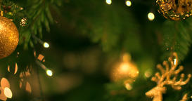 4K abstract christmas tree Bokeh tracking shot of abstract christmas tree ビデオ