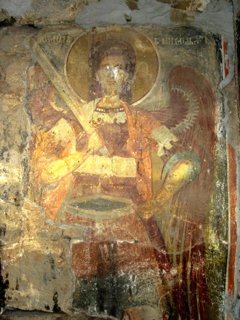 St. Archangel Michael Orthodox mural painting フォト
