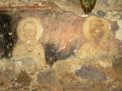 Fresco of late medieval Orthodox Church, Bulgaria フォト