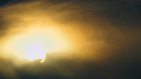 Scenic sun in cloudy sky Footage