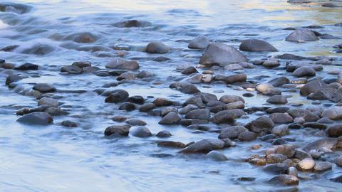 Smooth river rocks timelapse Live Action