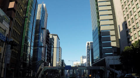Tokyo city scenery. National Route 246 Live Action