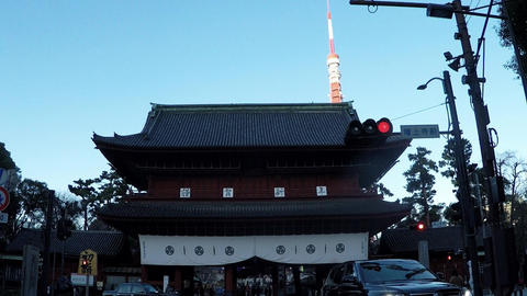 Japanese cityscape. New Year's Temple Archivo