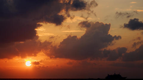 Romantic Sunset with Colorful Clouds. in Timelapse Stock Video Footage