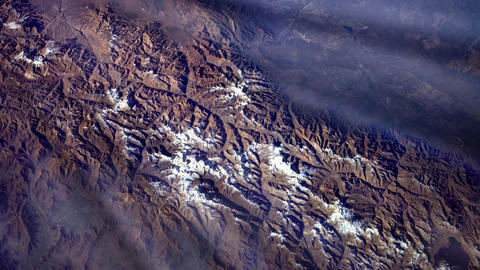 Andean Mountains (America) from Space. Elements of this image furnished by Nasa Image