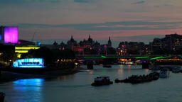 river thames night time london Footage