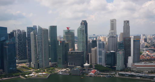 Singapore's contemporary. urban skyline in timelapse Live Action