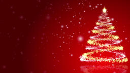 Christmas background with lots of copy space snow and a sparkling christmas Footage