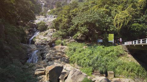 Tourists Visiting Ravana Falls in Sri Lanka. 4k footage 2160p Live Action