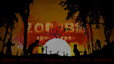 Zombie apocalypse Plantilla de Apple Motion