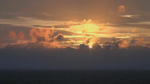 Sundown at sea Footage