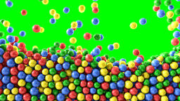 Colorful chocolate candies coated shiny balls background texture pattern Animación