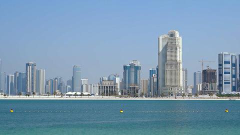 Modern. Urban Skyline of Dubai. FullHD video Footage