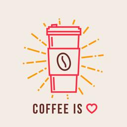 Coffee take away is love vector illustration Vector