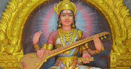 Saraswati. the Hindu goddess of knowledge. music. arts. wisdom and learning Live Action