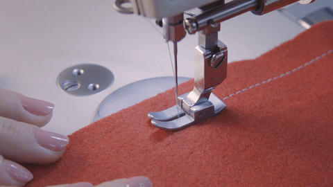 Sewing machine screening process Footage