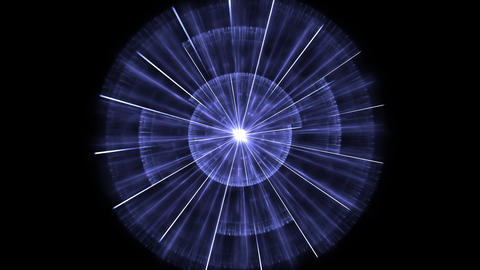 Blue pulsating circle. Computer generated abstract loopable motion background CG動画