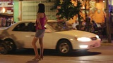 prostitute waiting costumer at night Footage