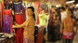 Shopping Asian Night Market Footage