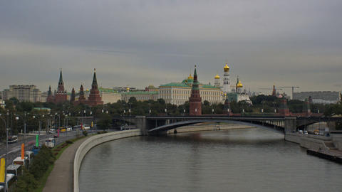 Kremlin Embankment Stock Video Footage