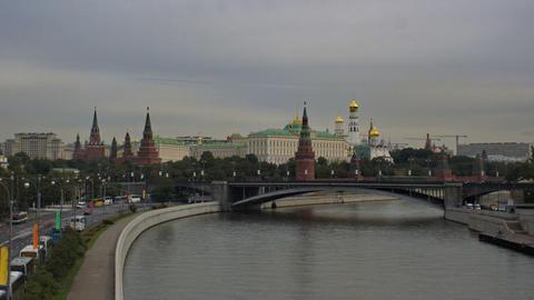 Kremlin Embankment Stock Video Footage