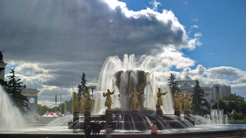 Peoples Friendship Fountain Stock Video Footage