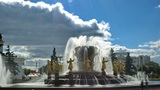 Peoples Friendship Fountain stock footage