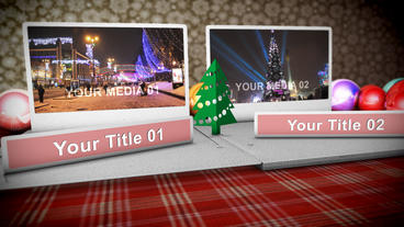 Christmas Popup folder After Effects Template