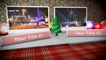 Christmas Popup Folder stock footage