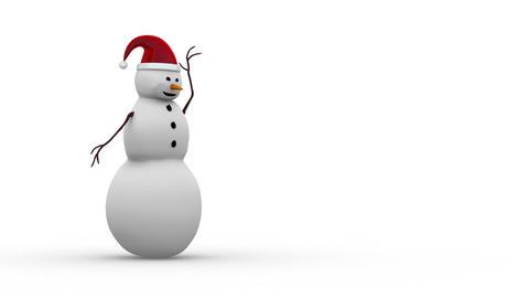 雪だるまサンタ Stock Video Footage