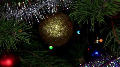 Christmas tree twinkle lights Stock Video Footage