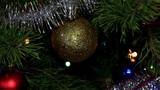 Christmas tree twinkle lights Footage