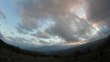 Timelapse sunset in the mountains Demerdji. Alushta, Crimea, Ukraine Footage