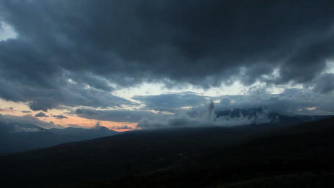 Timelapse sunset in the mountains Demerdji. Alushta,... Stock Video Footage