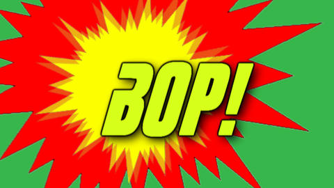 Comic Sound Effect Graphics Stock Video Footage