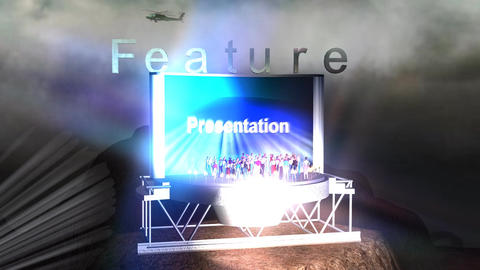 """Feature Presentation"" Mountain Credit Animation"