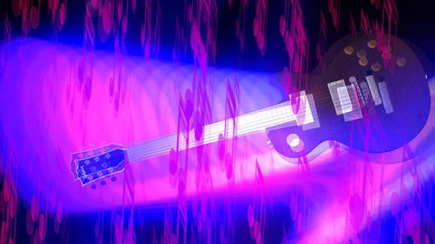 Guitar Animation with Musical Effects Animation