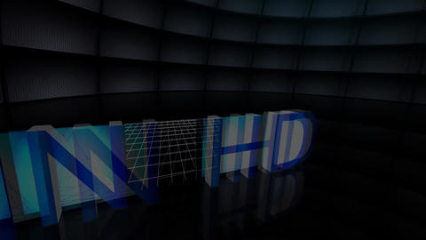 """In HD"" Film Frames Title Animation (Blue) Stock Video Footage"