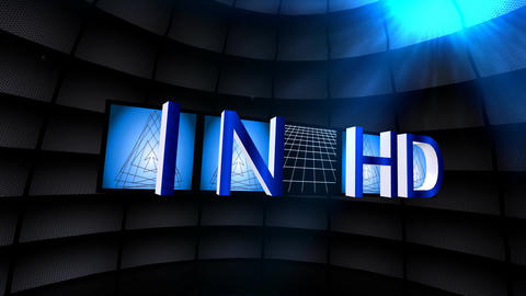 """In HD"" Film Frames Title Animation (Blue) Animation"