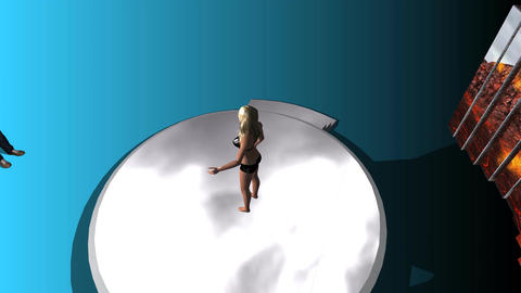 Blond Model Posing (Animated, 2 of 4) Stock Video Footage